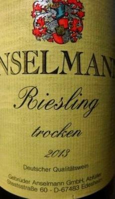Detalle de la etiqueta Anselmann
