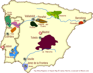 Regiones Portugal España
